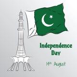 Onafhankelijkheidsdag van Pakistan Stock Fotografie