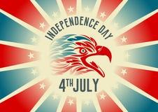 Onafhankelijkheidsdag, vierde van het uitstekende ontwerp van juli Stock Foto