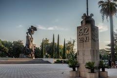 Onafhankelijkheidsmonument van Albanië in Vlore stock afbeelding
