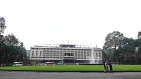 Onafhankelijkheidspaleis in Ho Chi Minh City in Viet Nam stock videobeelden