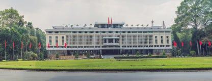Onafhankelijkheidspaleis in Ho Chi Minh City, Vietnam Het onafhankelijkheidspaleis is genoemd geworden Herenigingpaleis en ingebo royalty-vrije stock fotografie