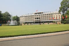 Onafhankelijkheidspaleis in Ho Chi Minh, Vietnam Royalty-vrije Stock Afbeelding