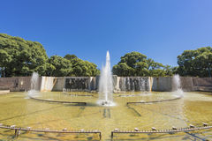 Onafhankelijkheidsvierkant in Mendoza-stad, Argentinië royalty-vrije stock afbeelding