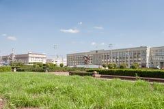 Onafhankelijkheidsvierkant, Minsk Stock Afbeelding