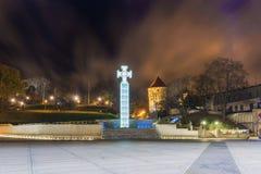 Onafhankelijkheidsvierkant in Tallinn Estland stock foto