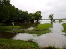 Onalaska Texas Flooding Hurricane Harvey. Flooding in Onalaska, Texas after hurricane harvey Royalty Free Stock Photo
