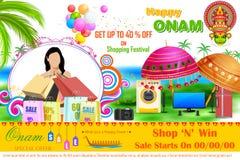 Onam销售和促进提议 免版税库存图片
