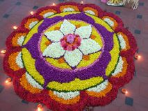 ONAM ATHAPPOO KERALA FESTIVAL royalty free stock photos