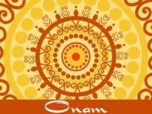 Onam background with artwork Stock Photography