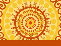 Onam background with artwork Royalty Free Stock Images