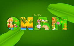 Onam Background Stock Photo