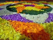 Onam-Blumendekoration Stockfoto