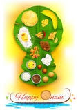 Onam feast on banana leaf Royalty Free Stock Photo