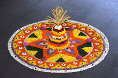 Onam flower decoration. Festival of onam flower decoration Stock Images