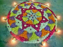Onam flower decoration royalty free stock photography