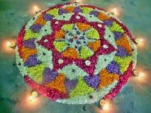 Onam flower decoration Royalty Free Stock Photography