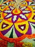 Onam Flower Rangoli Royalty Free Stock Image