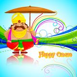 Onam Greetings Royalty Free Stock Photography