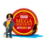 Onam Mega Discount Sticker, Tag or Label. vector illustration