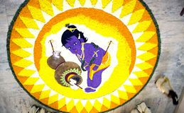 Onam pookalam Stock Photography