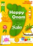 Onam Sadya sale background Royalty Free Stock Images