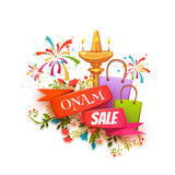 Onam sale banner with ribbon. Vector illustration.  Royalty Free Stock Photography