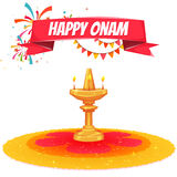 Onam sale banner with ribbon. Vector illustration.  Stock Image