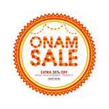 Onam Sale Poster, Banner or Flyer design. Stock Photo