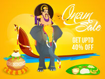 Onam Sale Poster, Banner or Flyer design. Royalty Free Stock Photography