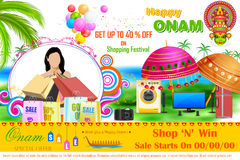 Onam Sale and promotion offer Royalty Free Stock Image