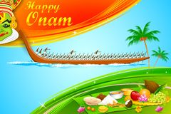 Onam tapet stock illustrationer