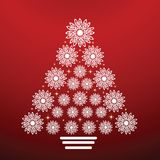 Onate snowflake christmas tree Royalty Free Stock Photos
