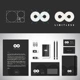 Onbegrensd Abstract Logo Template en Identiteit Stock Fotografie
