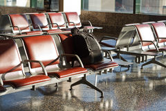 Onbeheerde bagageluchthaven royalty-vrije stock foto's