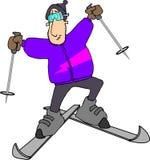 Onbeheerste Skiier Stock Afbeeldingen