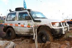 Onbekend bestuurder/team die aan TT de Reis van de Jeep deelnemen Stock Afbeeldingen