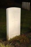 Onbekende militair, WW1 Duitse Militaire begraafplaats, België Stock Foto