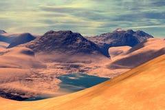 Onbekende planeet Bergen Stock Foto