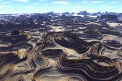 Onbekende planeet Bergen Royalty-vrije Stock Afbeelding