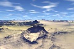 Onbekende planeet Bergen Stock Afbeelding