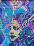 Onbekende straatkunstenaar royalty-vrije stock foto's