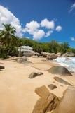 Onbeschadigd tropisch strand in Sri Lanka Stock Afbeelding