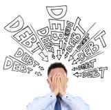 Onbetaalde schuld Stock Fotografie