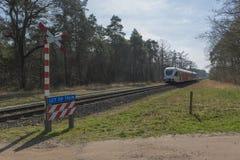 Onbewaakte spoorweg kruising Stock Fotografie