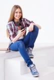 Onbezorgde tiener Stock Fotografie