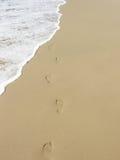Onbezorgde voetafdrukken Stock Afbeelding