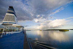 Onboard cruise ship Stock Photography