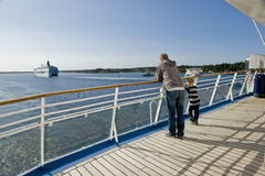 Onboard cruise ship Royalty Free Stock Photo