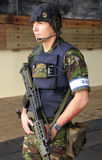onboard kunglig vaktpost för beväpnad bålverkhms-marin Royaltyfria Foton