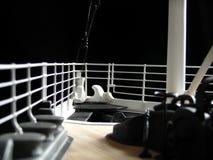 Onboard pilbågen arkivbild